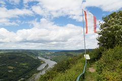 View from city Starkenburg over the Moselle valley Stock Image