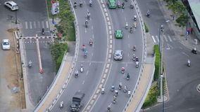 View of City Streets from Above  - Ho Chi Minh City Vietnam stock video