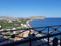 View of the city of Sudak royalty free stock photography