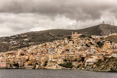 View of the city of Syros