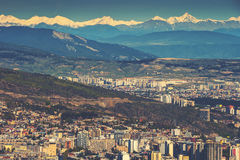 View of the city of Tbilisi Stock Photography