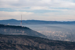 View of the city of Tbilisi. Royalty Free Stock Image