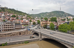 View of the city Tbilisi,Georgia. Stock Images