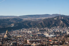 View of the city of Tbilisi. Stock Photography