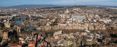 View of the city of Tbilisi. Royalty Free Stock Photography