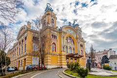 View at the City Theatre of Cluj - Napoca Royalty Free Stock Image