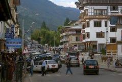 View of the city, Thimphu, Bhutan Stock Photos