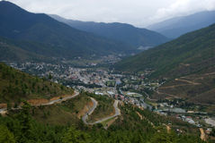 View of the city, Thimphu, Bhutan Stock Images