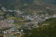 View of the city, Thimphu, Bhutan Stock Image