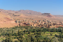 View city of Tinghir city and oasis. Morocco Royalty Free Stock Photo