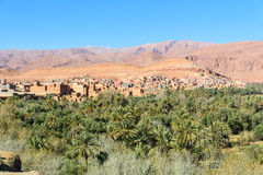 View city of Tinghir city and oasis. Morocco Stock Image