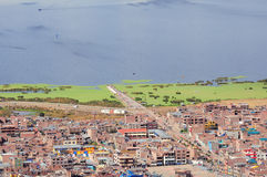 View of the city by Titicaca lake, Stock Photography