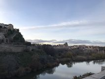 View of city of Toledo across from the Tajo River, Spain. Photo taken in 2017 Stock Images
