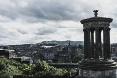 View from Calton Hill-Edinburgh royalty free stock photography