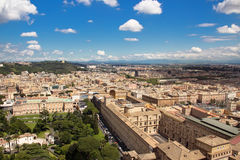 View city from the top of Saint Peter's Basilica Stock Images