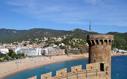 View of the city of Tossa de Mar in Girona, Spain Royalty Free Stock Images