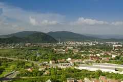 View on city, Transcarpathia, Mukacheve,  Europe. Royalty Free Stock Photography