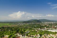 View on city, Transcarpathia, Mukachevo,  Europe. Royalty Free Stock Images