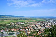 View of the city in Transylvania Romania stock image