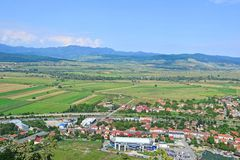 View of the city in Transylvania Romania stock images