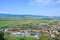 View of the city in Transylvania Romania royalty free stock photo