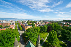 View of the city of Trondheim Royalty Free Stock Photos