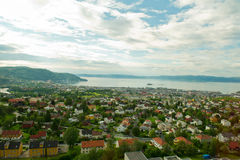 View of the city Trondheim Stock Images