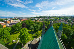 View of the city of Trondheim Royalty Free Stock Photo
