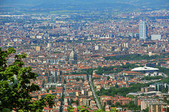 View of the city of Turin from Superga, Turin, Italy Stock Photo