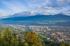 View of the city of Tyrol, Austria Royalty Free Stock Photo