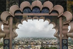 View of the city of Udaipur from a balcony of the city palace