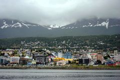 A view of the city of Ushuaia, Argentina royalty free stock photo