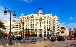 View of city in Valencia, Spain Royalty Free Stock Photo