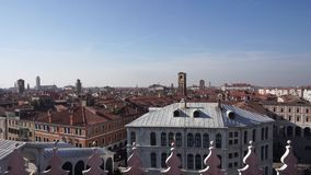 View of the city of Venice from the department store T Fondaco dei Tedeshi, Video stock footage