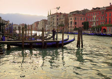 View of the city Venice. a gondolier Royalty Free Stock Image