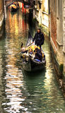 View of the city Venice. a gondolier Royalty Free Stock Photo