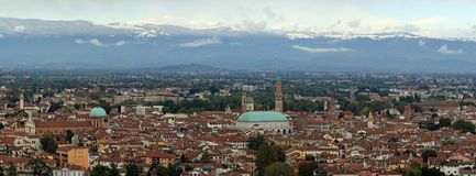 View of the city of Vicenza Stock Photos