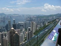 View of the city from Victoria peak, Hong Kong royalty free stock photo