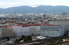 A view of the city of Vienna, a city between past and future -. A panoramic view of the city of Vienna in Austria stock photos