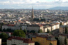 A view of the city of Vienna between past and future - Austria Royalty Free Stock Image