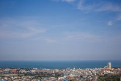 View of the city from the view point of Hua Hin. Thailand royalty free stock photography