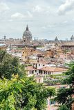 View of the city from Villa Borghese in Rome royalty free stock photo