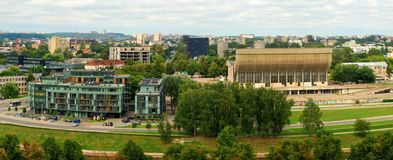 View of the city of Vilnius and Neris River Stock Image