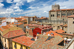 View from the city wall, Avila, Spain Stock Photos