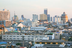 View of the city from Wat Saket temple Stock Photography