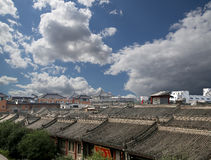 View of the city of Xian (Sian, Xi'an), China Royalty Free Stock Images