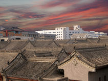 View of the city of Xian (Sian, Xi'an), China Royalty Free Stock Image