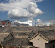 View of the city of Xian (Sian, Xi'an), China Royalty Free Stock Photo