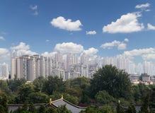 View of the city of Xian (Sian, Xi'an), Shaanxi province, China Stock Photo