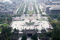 View of the city of Xian (Sian, Xi'an), Shaanxi province, China Royalty Free Stock Photography